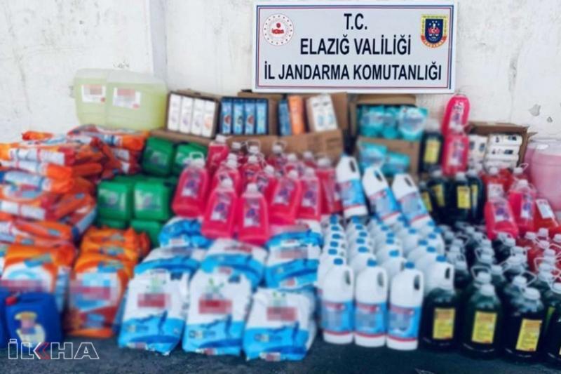 Elâzığ'da sahte temizlik maddesi operasyonu