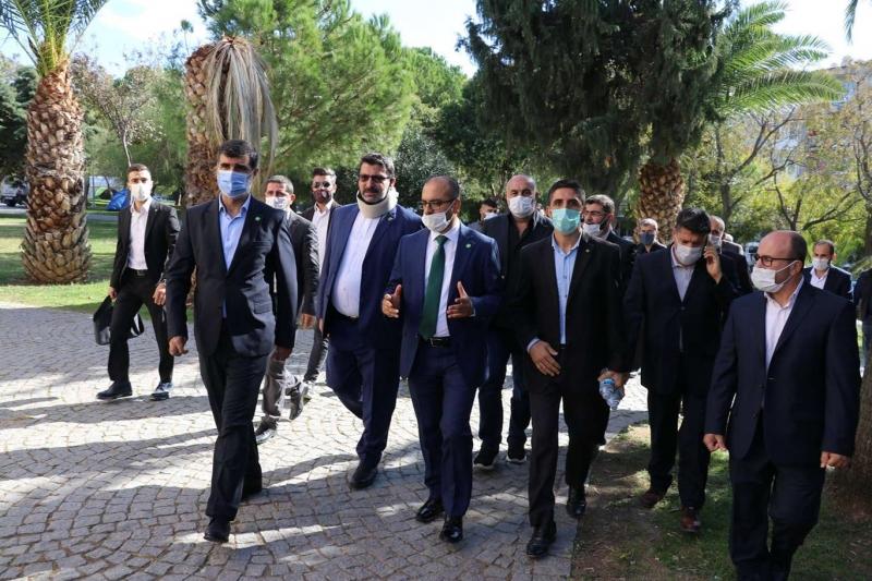 HÜDA PAR Genel Başkan Yardımcısı ve Hemşehrimiz Mahmut Şahin Deprem Bölgesini Ziyaret Etti