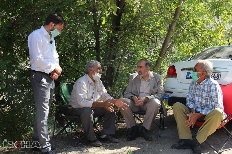 HÜDA PAR heyeti 4 gün önce kaybolan kardeşleri arama çalışmalarını yerinde inceledi