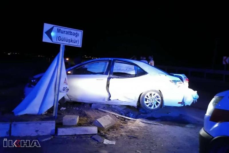 Kovancılar`da  iki otomobil çarpıştı: 4 yaralı