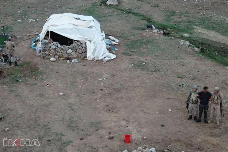 Palu`da Uyuşturucu ticareti suçundan firari olan şahıs çadırda yakalandı