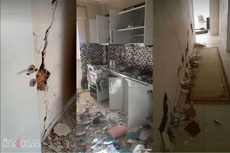 Sivrice cezaevi lojmanları depremde hasar gördü