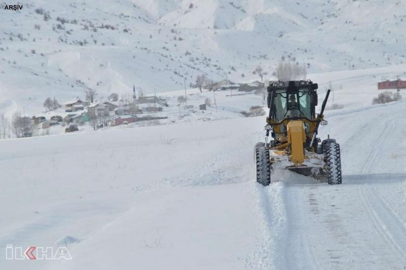 Tunceli'de kar nedeniyle 58 köy yolu ulaşıma kapandı