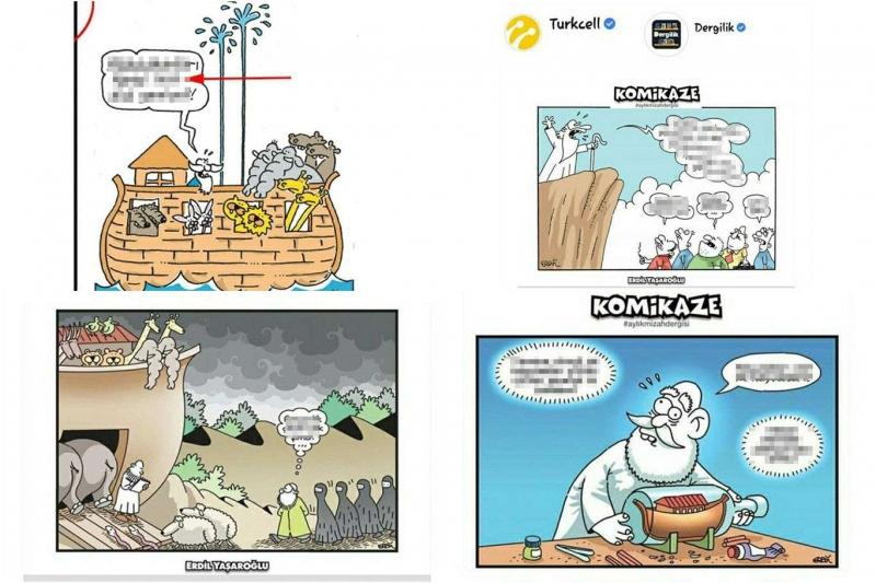 Turkcell'e karikatür rezaleti tepkisi AHLAKSIZCA VE EDEPSİZCE